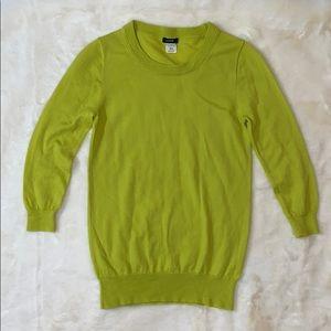 J Crew chartreuse merino wool sweater